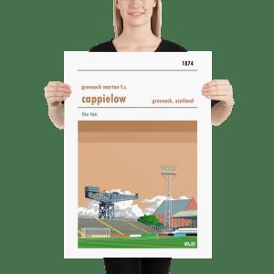 Large Greenock Morton and Cappielow football poster