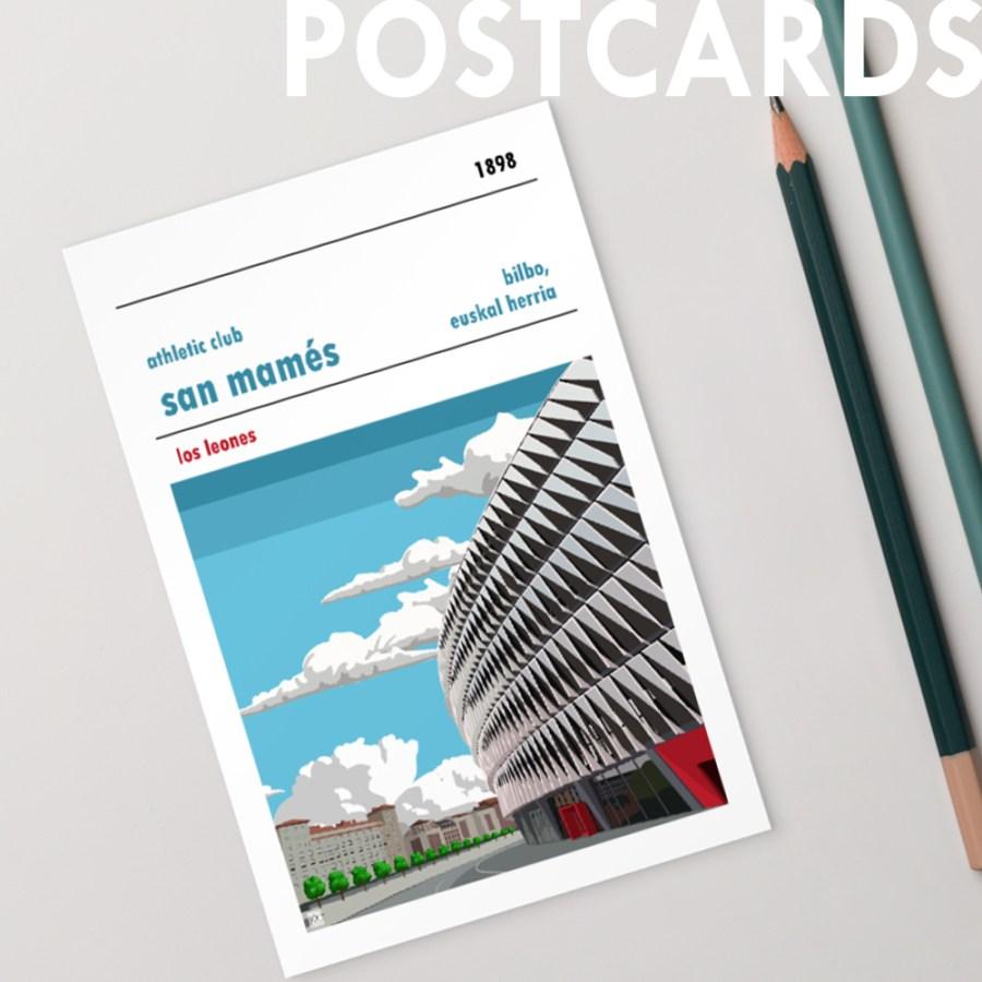 Football Postcards from Football Stadium Prints