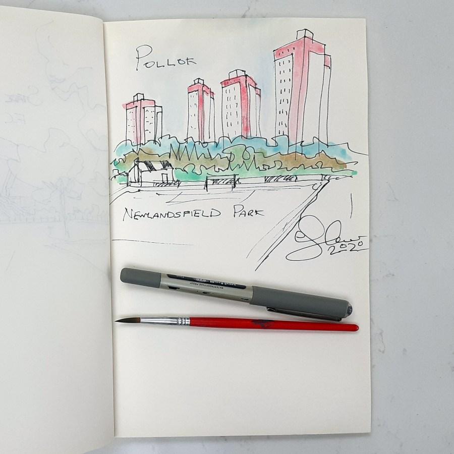 Pollok sketch by Steve Stewart