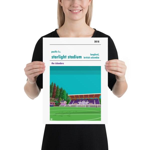 Medium Pacific FC and Starlight Stadium football poster