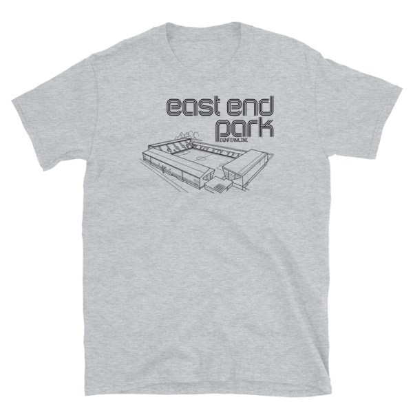 Grey East End Park Dunfermline T-Shirt