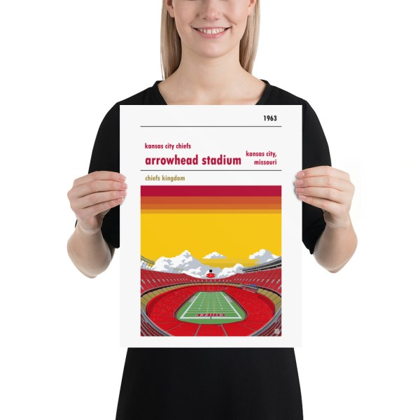 Medium Arrowhead Stadium and Kansas City Chiefs FC Football poster