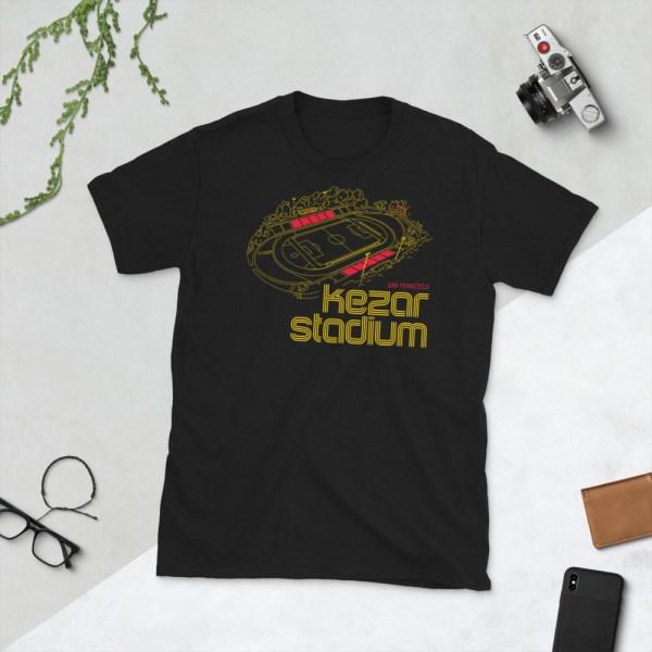 Black Kezar Stadium and San Francisco City FC T-Shirt