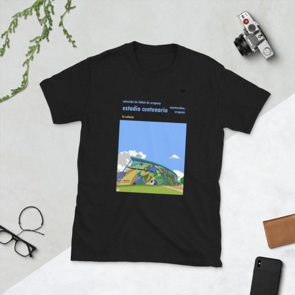 Black Estadio Centenario and Uruguay national football team t-shirt