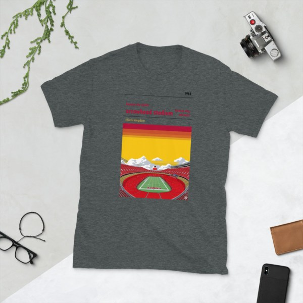 Dark gray Arrowhead Stadium and Kansas City Chiefs FC T-Shirt