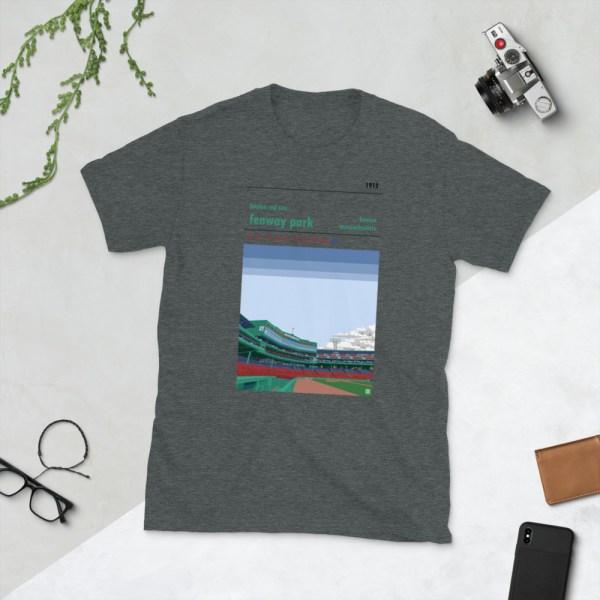 Dark gray Fenway Park and Boston Red Sox t-shirt