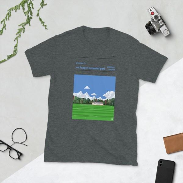 Dark grey Greenlaw FC and Happer Park T-Shirt