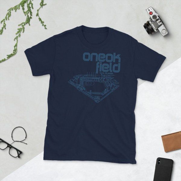 Navy ONEOK Field and Tulsa Drillers t-shirt
