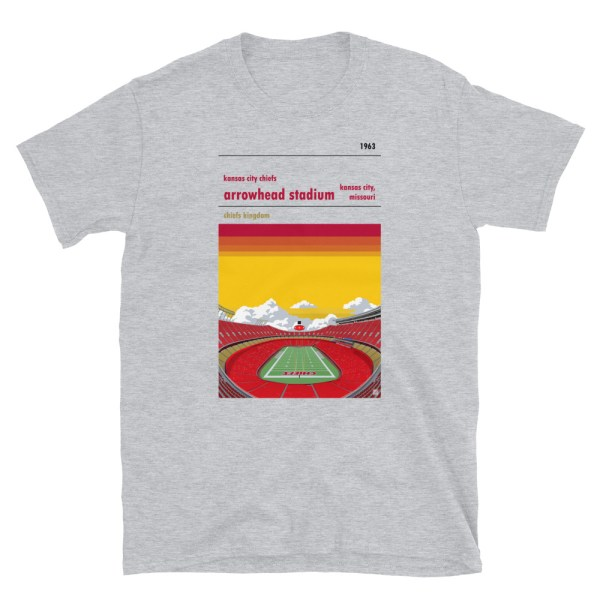 Gray Arrowhead Stadium and Kansas City Chiefs FC T-Shirt