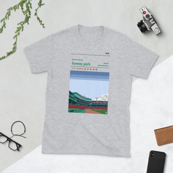 Grey Fenway Park and Boston Red Sox t-shirt