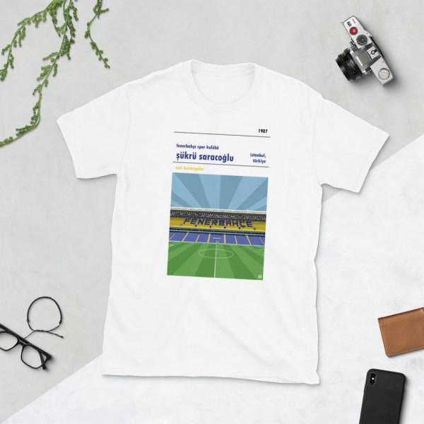 White Fenerbahce and Sukru Saracoglu t-shirt
