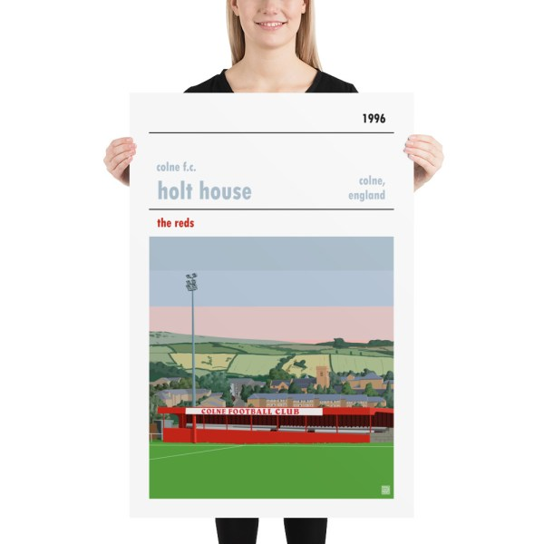 Huge football poster of Colne FC and Holt House