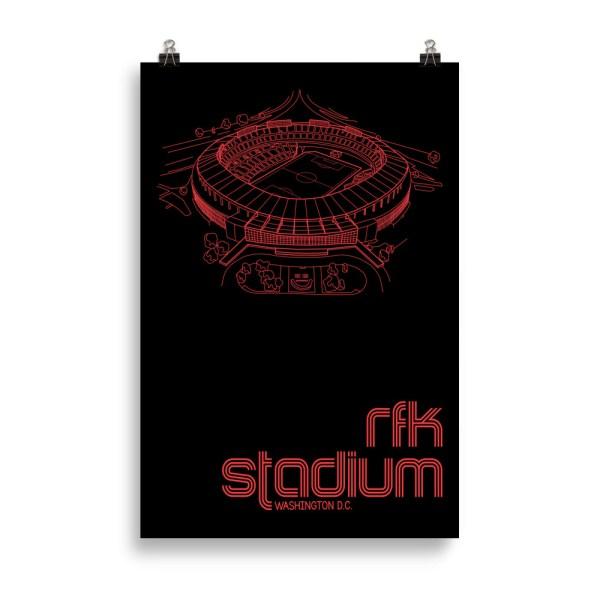 Huge RFK Stadium and DC United Print