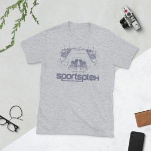 Gray Stumptown AC and Sportsplex t-shirt