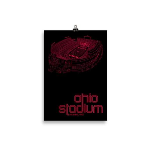 Small Ohio Stadium and Buckeyes Poster