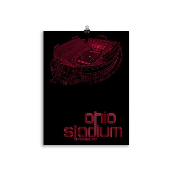 Ohio Stadium and Buckeyes Poster