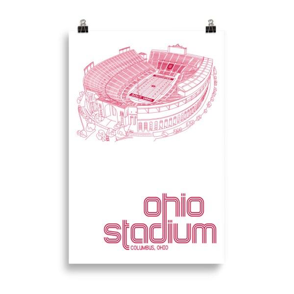 Huge Ohio Stadium and Buckeyes Poster