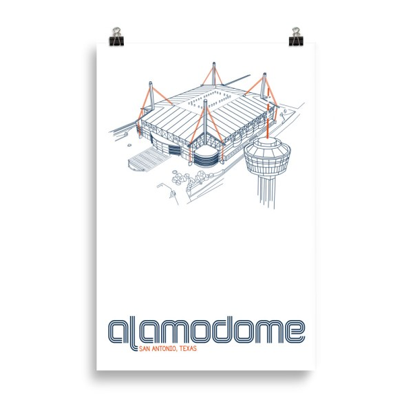 Huge Alamodome and UTSA Roadrunners print