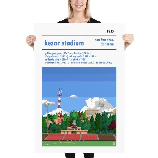 Massive San Francisco City and Kezar Stadium soccer Poster