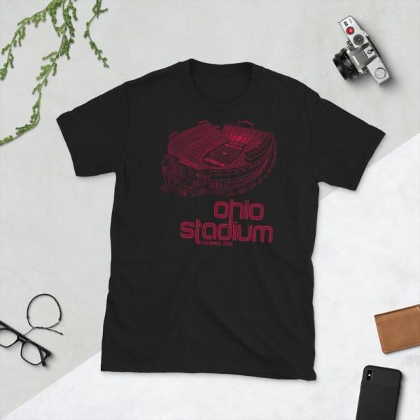 Black Ohio Stadium and Buckeyes T-Shirt