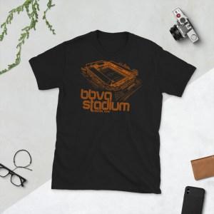 Black BBVA Stadium and Houston Dynamo and Dash T-Shirt
