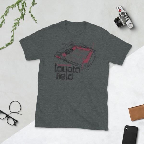 Dark gray San Antonio FC and Toyota Field T-Shirt