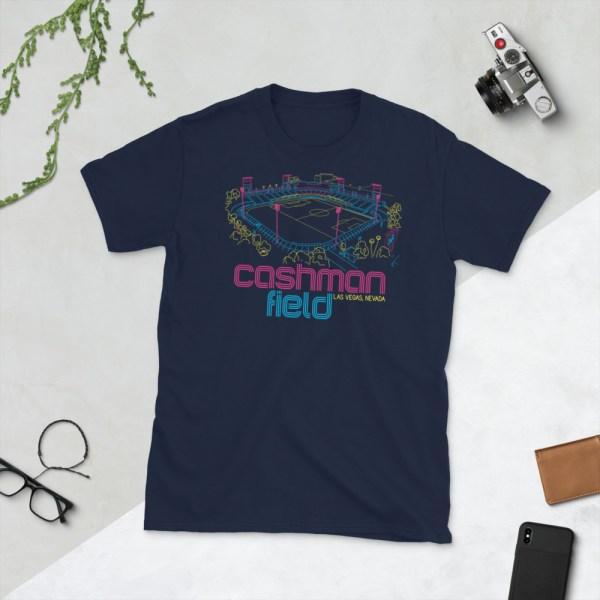 Navy Cashman Field and Las Vegas Lights FC T-Shirt