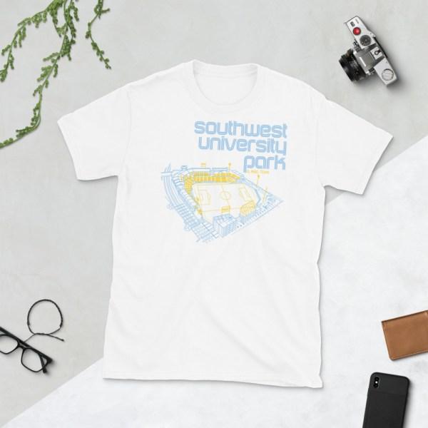 White El Paso Locomotive and Southwest University Park T-Shirt