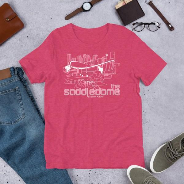 Pink Saddledome and Calgary Flames T-Shirt