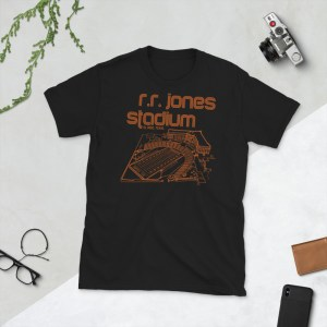 Black El Paso Tigers and RR Jones Stadium T-Shirt