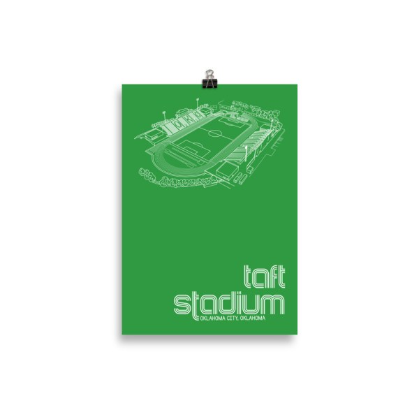 Small Taft Stadium and OKC Energy FC Soccer Print