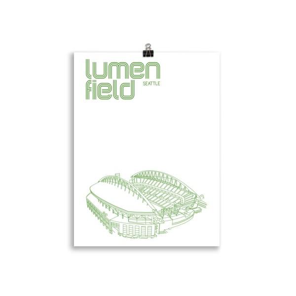 Medium Lumen Field and Seattle Sounders Soccer Print