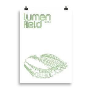 Lumen Field and Seattle Sounders Soccer Print