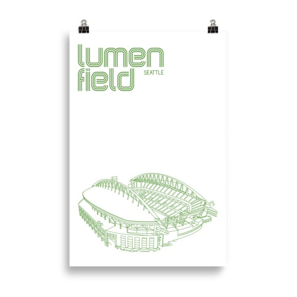 Huge Lumen Field and Seattle Sounders Soccer Print