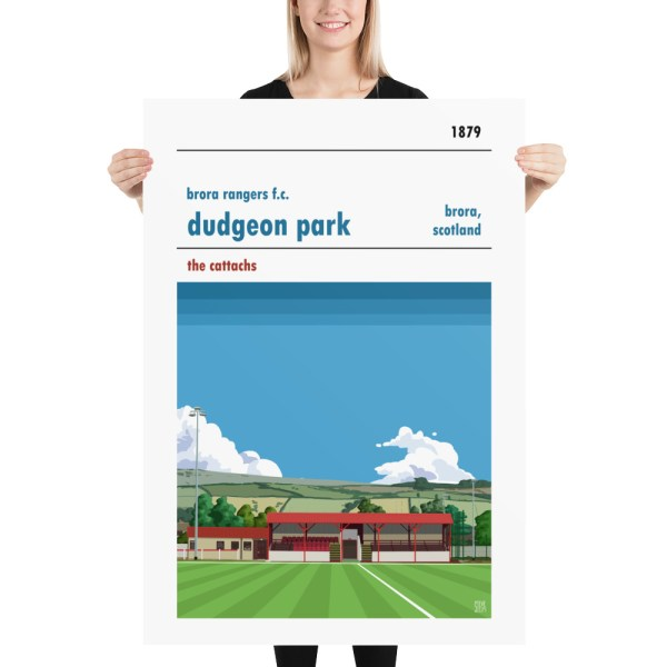 Massive Dudgeon Park and Brora Rangers Football Poster