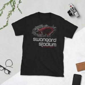 Black Swangard Stadium and TSS Rovers T-Shirt