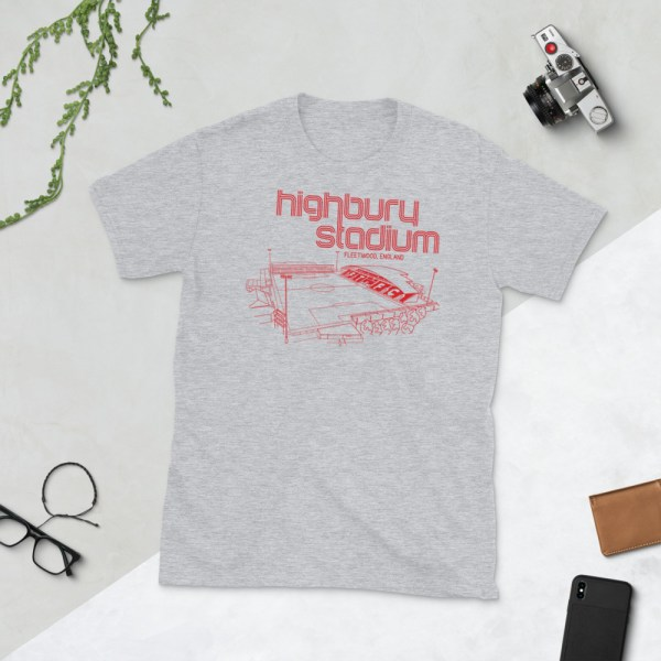 Grey Fleetwood Town and Highbury Stadium T-Shirt
