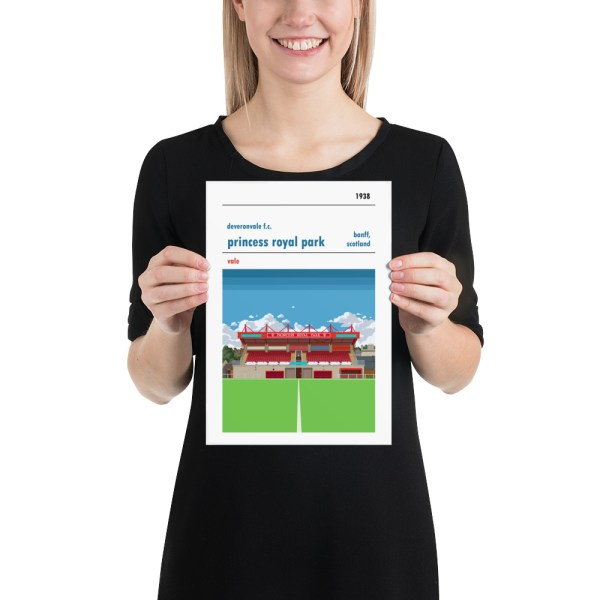 Small Deveronvale and Princess Royal Park Football Print