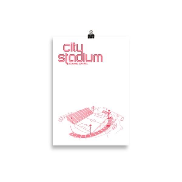 Small Richmond Kickers and City Stadium Soccer Print