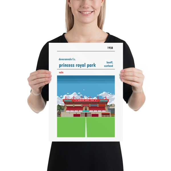 Medium Deveronvale and Princess Royal Park Football Print
