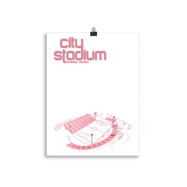 Medium Richmond Kickers and City Stadium Soccer Print
