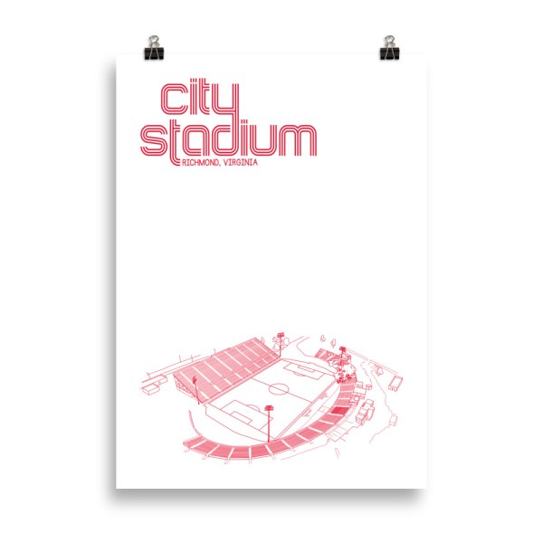 Large Richmond Kickers and City Stadium Soccer Print
