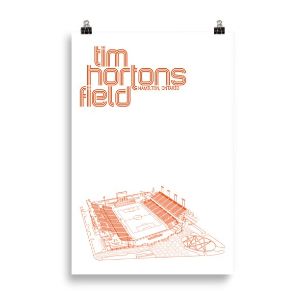 Huge Tim Hortons Field and Forge FC Football Poster