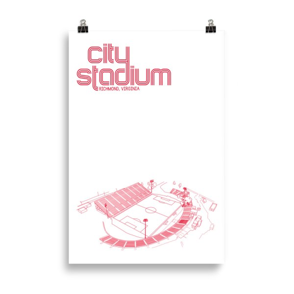 Huge Richmond Kickers and City Stadium Soccer Print
