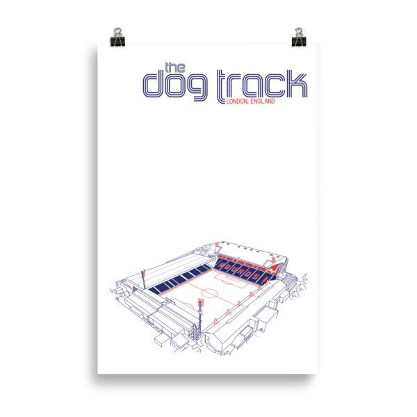 Huge Ted Lasso AFC Richmond and Dog Track Football Print
