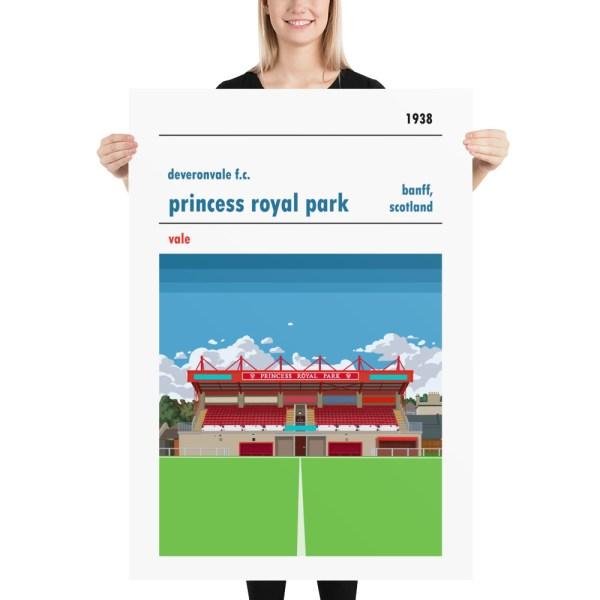 Massive Deveronvale and Princess Royal Park Football Print