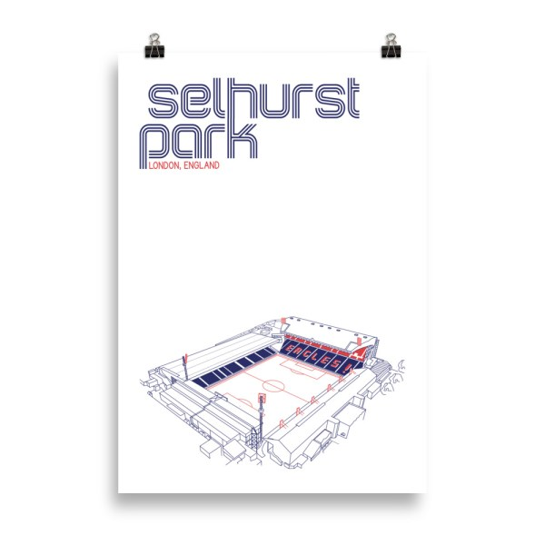 Massive Selhurst Park and Crystal Palace Football Poster