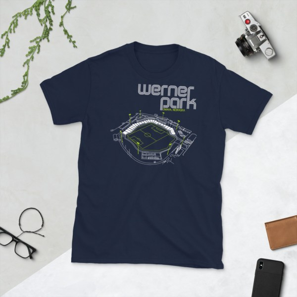 Navy Union Omaha and Werner Park T-Shirt