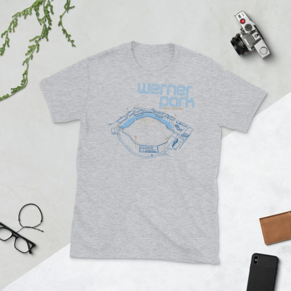 Gray Omaha Storm Chasers and Werner Park T-Shirt
