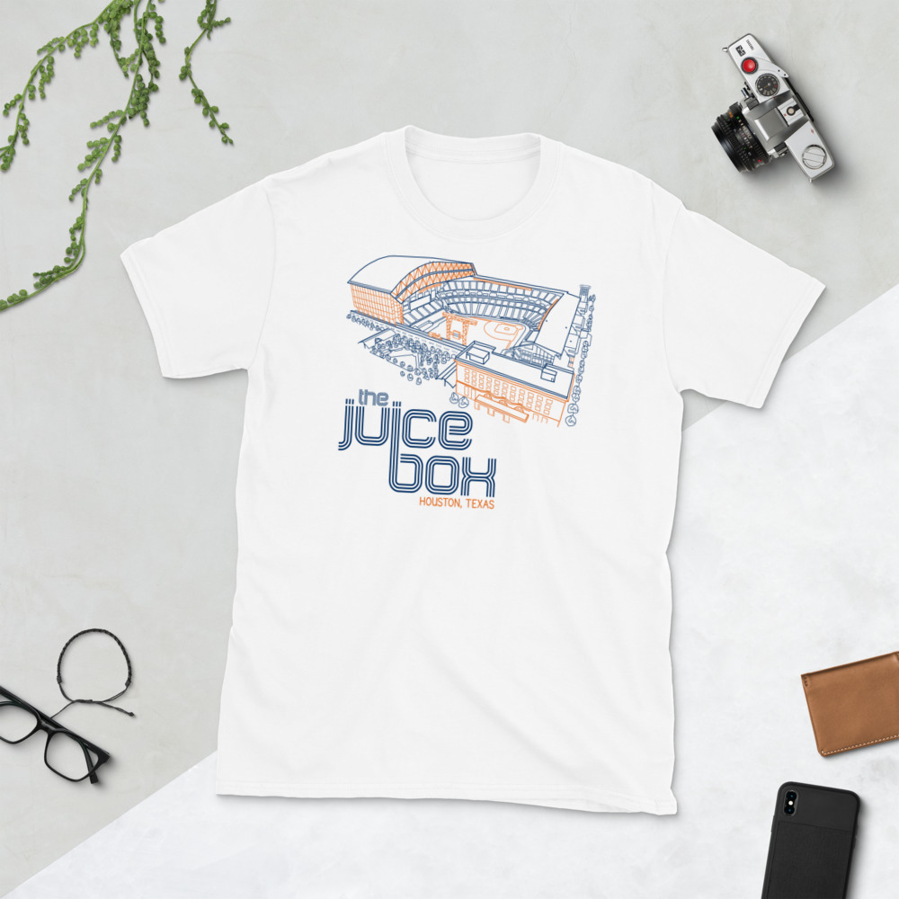 White Houston Astros and The Juice Box T-Shirt